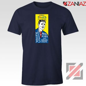 George Jones Pop Art Singer Navy Blue Tshirt