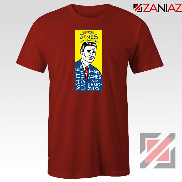 George Jones Pop Art Singer Red Tshirt
