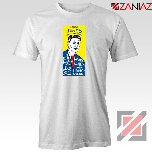 George Jones Pop Art Singer White Tshirt