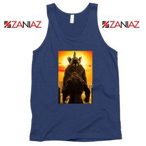 Godzilla vs Kong Monsters Navy Blue Tank Top