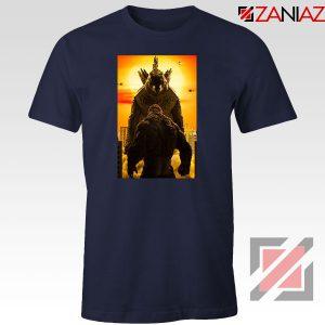 Godzilla vs Kong Monsters Navy Blue Tshirt