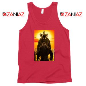 Godzilla vs Kong Monsters Red Tank Top