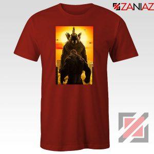 Godzilla vs Kong Monsters Red Tshirt