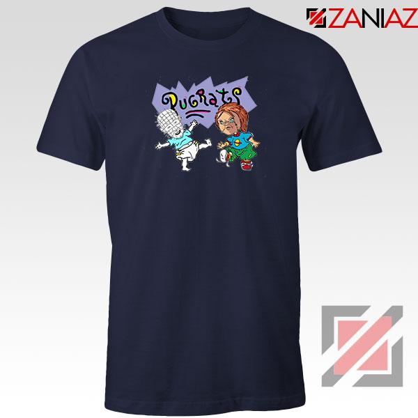 Hellraisers Pinhead and Chucky Navy Blue Tshirt