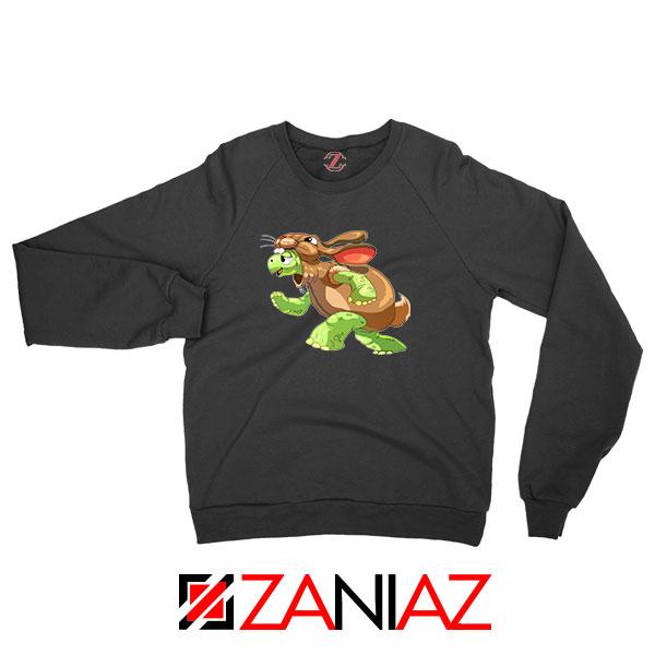 Slow and Steady Wins Design Black Sweatshirt