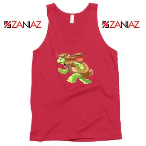 Slow and Steady Wins Design Red Tank Top