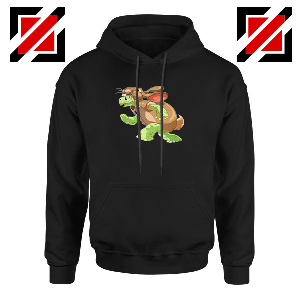 Slow and Steady Wins Graphic Black Hoodie