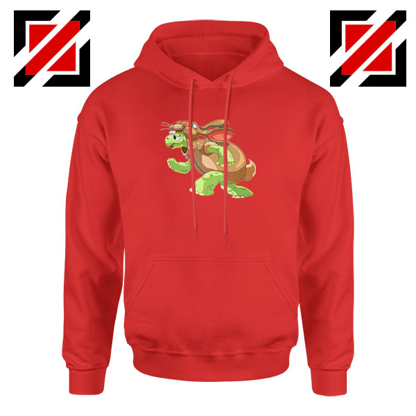 Slow and Steady Wins Graphic Red Hoodie