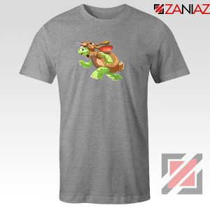 Slow and Steady Wins Graphic Sport Grey Tshirt