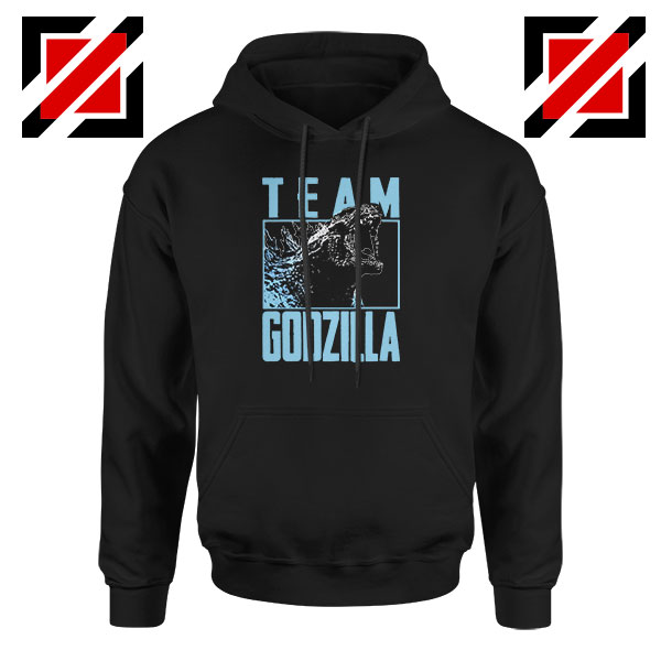 Team Godzilla Monster Film Black Hoodie