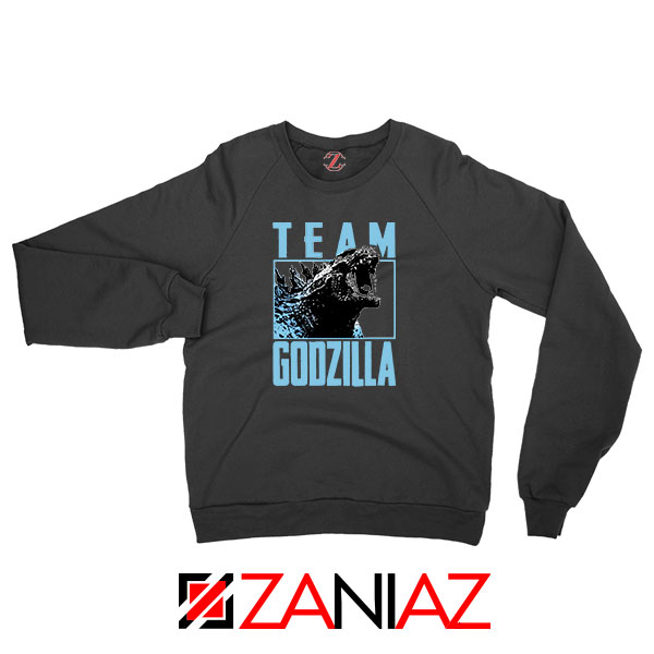 Team Godzilla Monster Film Black Sweatshirt