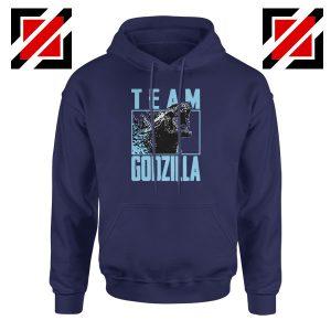 Team Godzilla Monster Film Navy Blue Hoodie