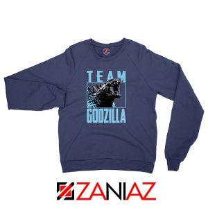 Team Godzilla Monster Film Navy Blue Sweatshirt