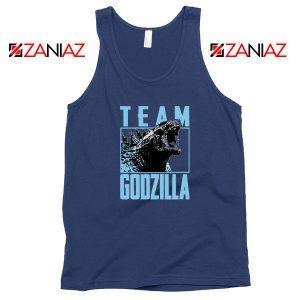 Team Godzilla Monster Film Navy Blue Tank Top