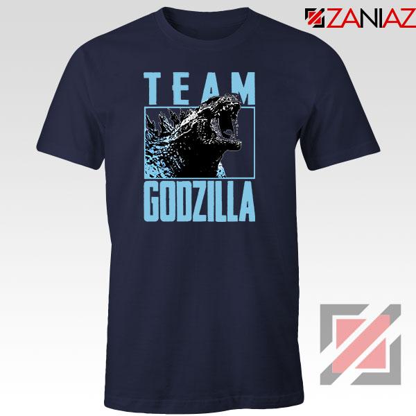 Team Godzilla Monster Film Navy Blue Tshirt