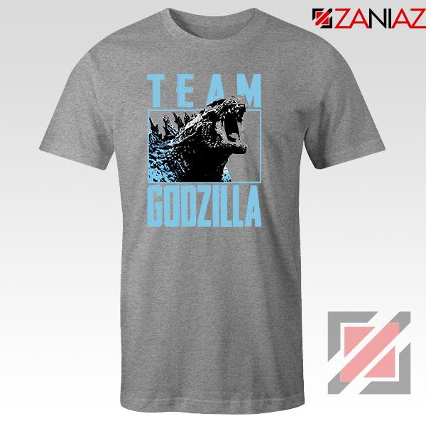 Team Godzilla Monster Film Sport Grey Tshirt