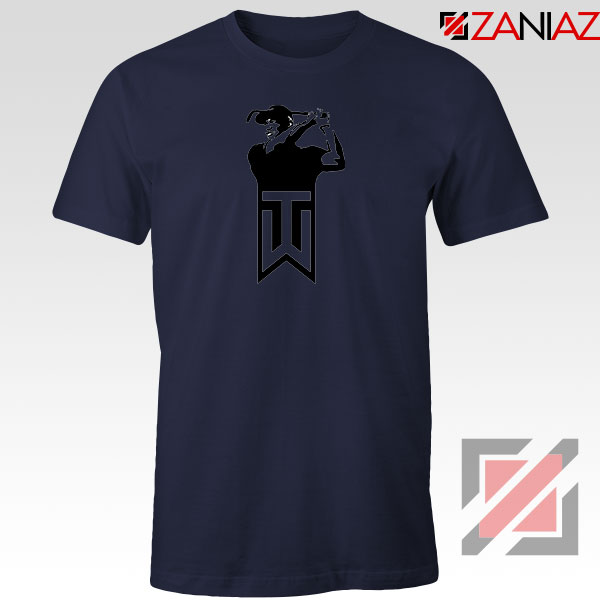 Tiger Woods Golf Logo Navy Blue Tshirt