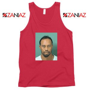 Tiger Woods Masters Shot Red Tank Top