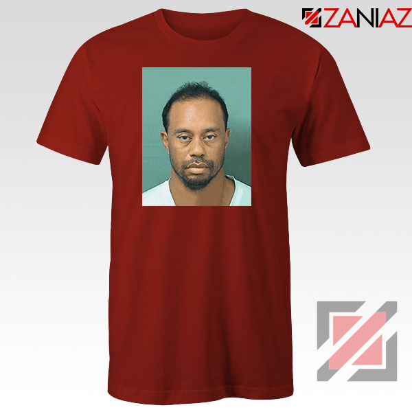 Tiger Woods Masters Shot Red Tshirt
