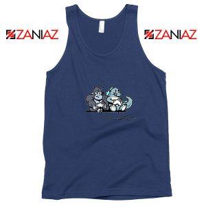 Videogame Kong and Godzilla Navy Blue Tank Top