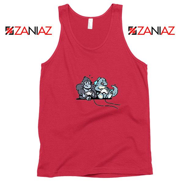 Videogame Kong and Godzilla Red Tank Top