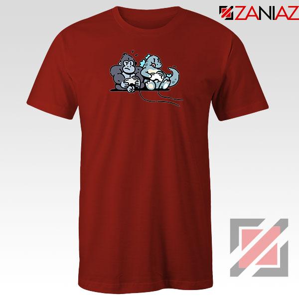 Videogame Kong and Godzilla Red Tshirt