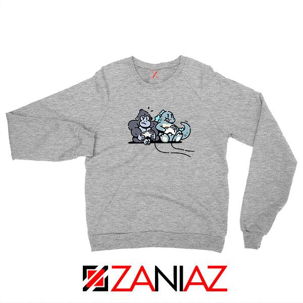 Videogame Kong and Godzilla Sport Grey Sweatshirt