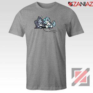Videogame Kong and Godzilla Sport Grey Tshirt