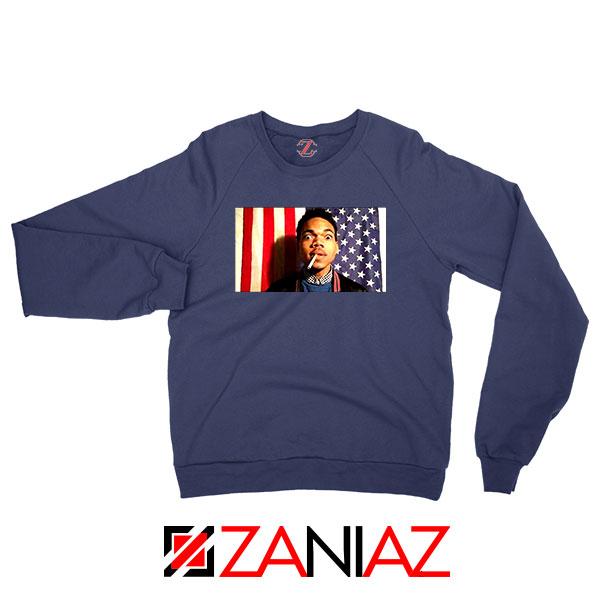 Acid Rap Mixtape American Flag Navy Blue Sweatshirt