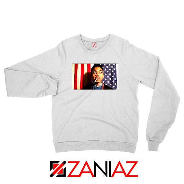 Acid Rap Mixtape American Flag White Sweatshirt