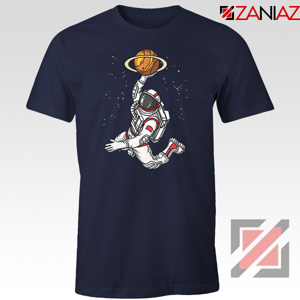 Astronaut Graphic Space Dunk Navy Blue Tshirt