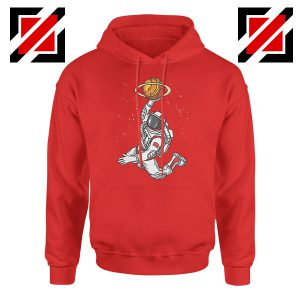 Astronaut Space Dunk Graphic Red Hoodie