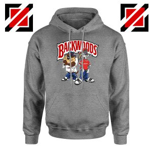 Backwoods Cartoon Smokes Grey Hoodie