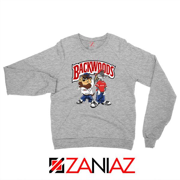 Backwoods Cartoon Smokes Grey Sweatshirt