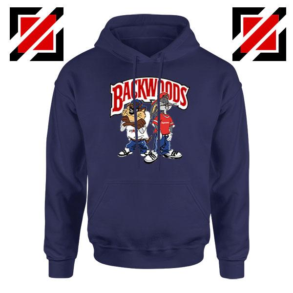 Backwoods Cartoon Smokes Navy Blue Hoodie