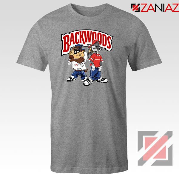 Backwoods Logo Bugs and Taz Grey Tee