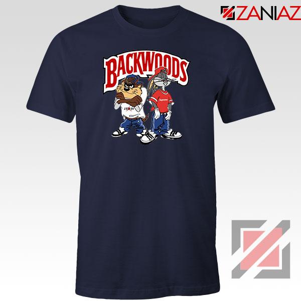 Backwoods Logo Bugs and Taz Navy Blue Tee