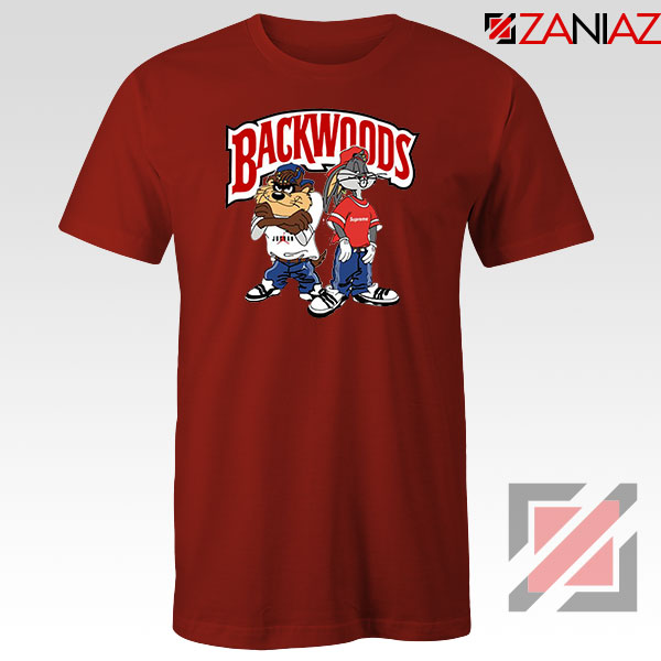 Backwoods Logo Bugs and Taz Red Tee
