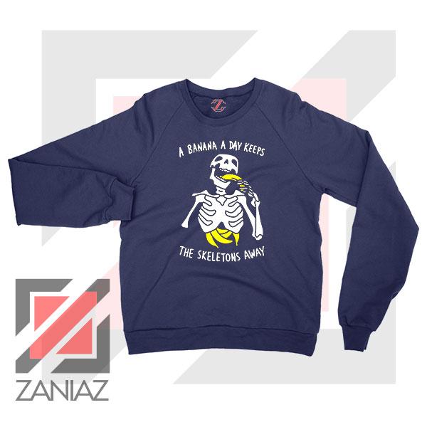 Banana The Skeletons Away Cheap Navy Blue Sweatshirt