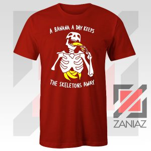Banana The Skeletons Away Graphic Red Tee