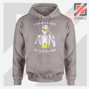 Banana The Skeletons Away Graphic Sport Grey Hoodie