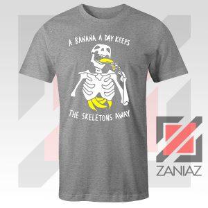 Banana The Skeletons Away Graphic Sport Grey Tee
