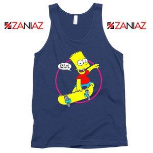 Bart Simpson Eat My Shorts Navy Blue Tank Top