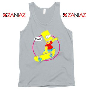 Bart Simpson Eat My Shorts Sport Grey Tank Top
