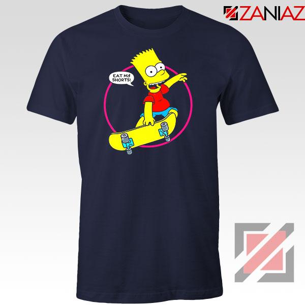 Bart Simpson Sitcom Eat My Shorts Navy Blue Tshirt