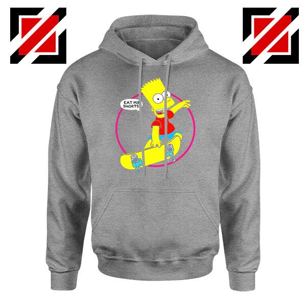 Bart Simpson Sitcom Eat My Shorts Sport Grey Hoodie