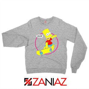 Bart Simpson Sitcom Eat My Shorts Sport Grey Sweater