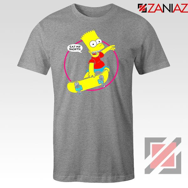Bart Simpson Sitcom Eat My Shorts Sport Grey Tshirt
