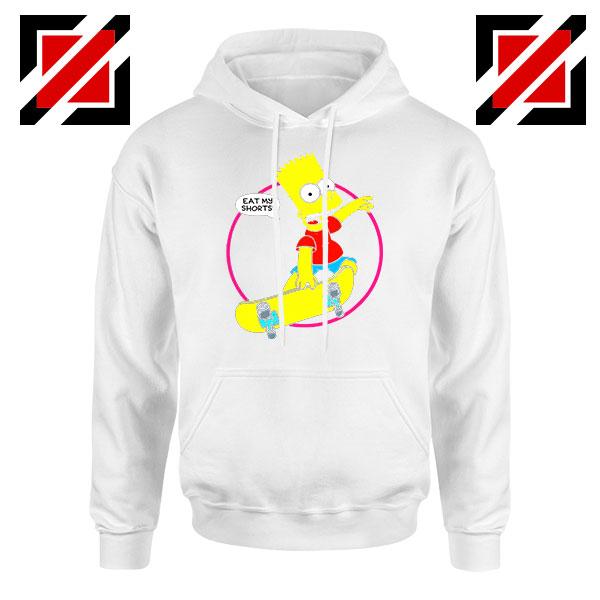 Bart Simpson Sitcom Eat My Shorts White Hoodie