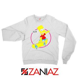Bart Simpson Sitcom Eat My Shorts White Sweater